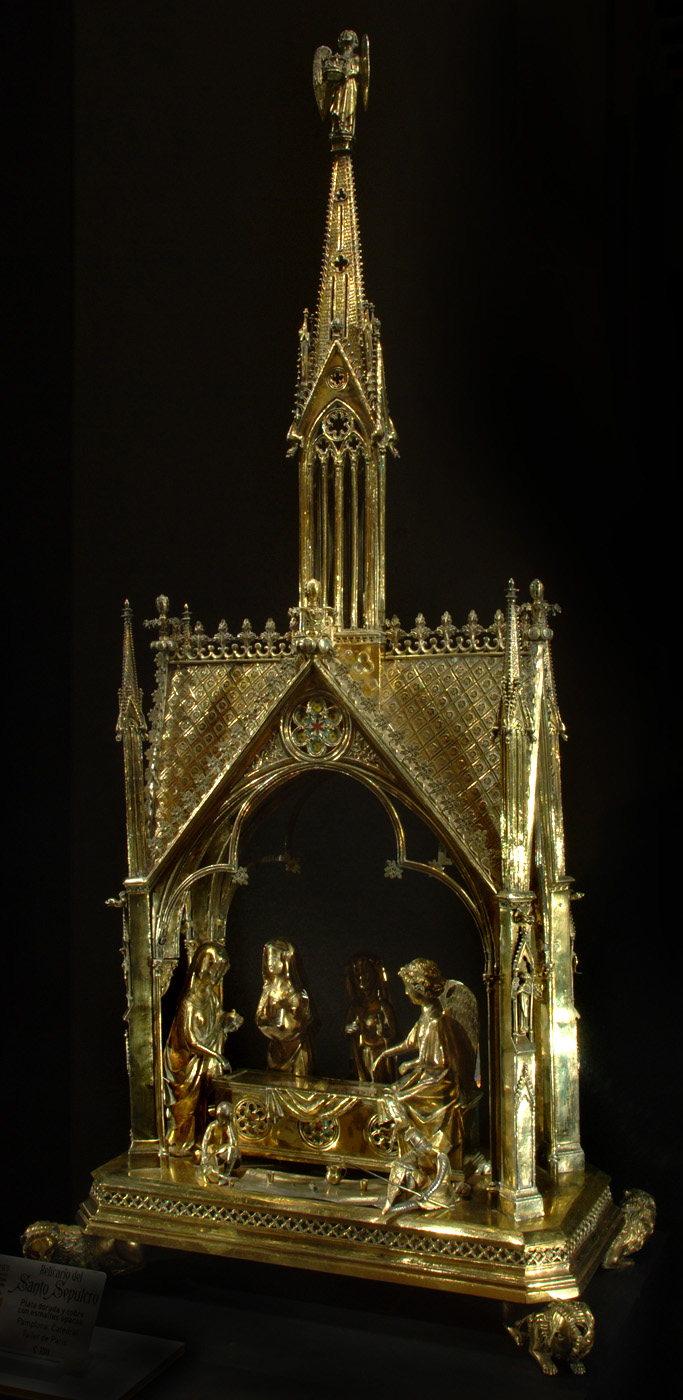 The reliquary of the Holy Sepulchre from Pamplona. Source: Wikipedia