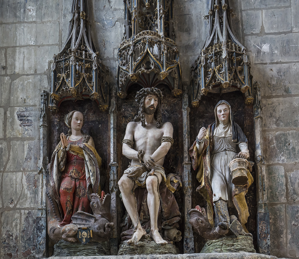 Detail from the interior of the Saint Etienne Cathedral, Beauvais, France.