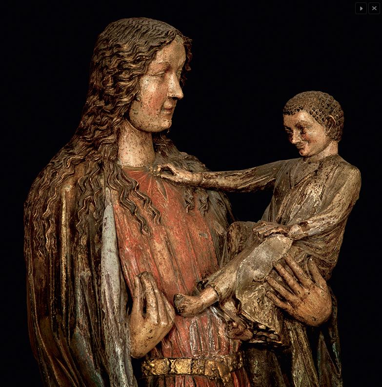 Fuststrasse Madonna - detail © Dom- und Diözesanmuseum Mainz, Foto: Marcel Schawe, Frankfurt a. M.