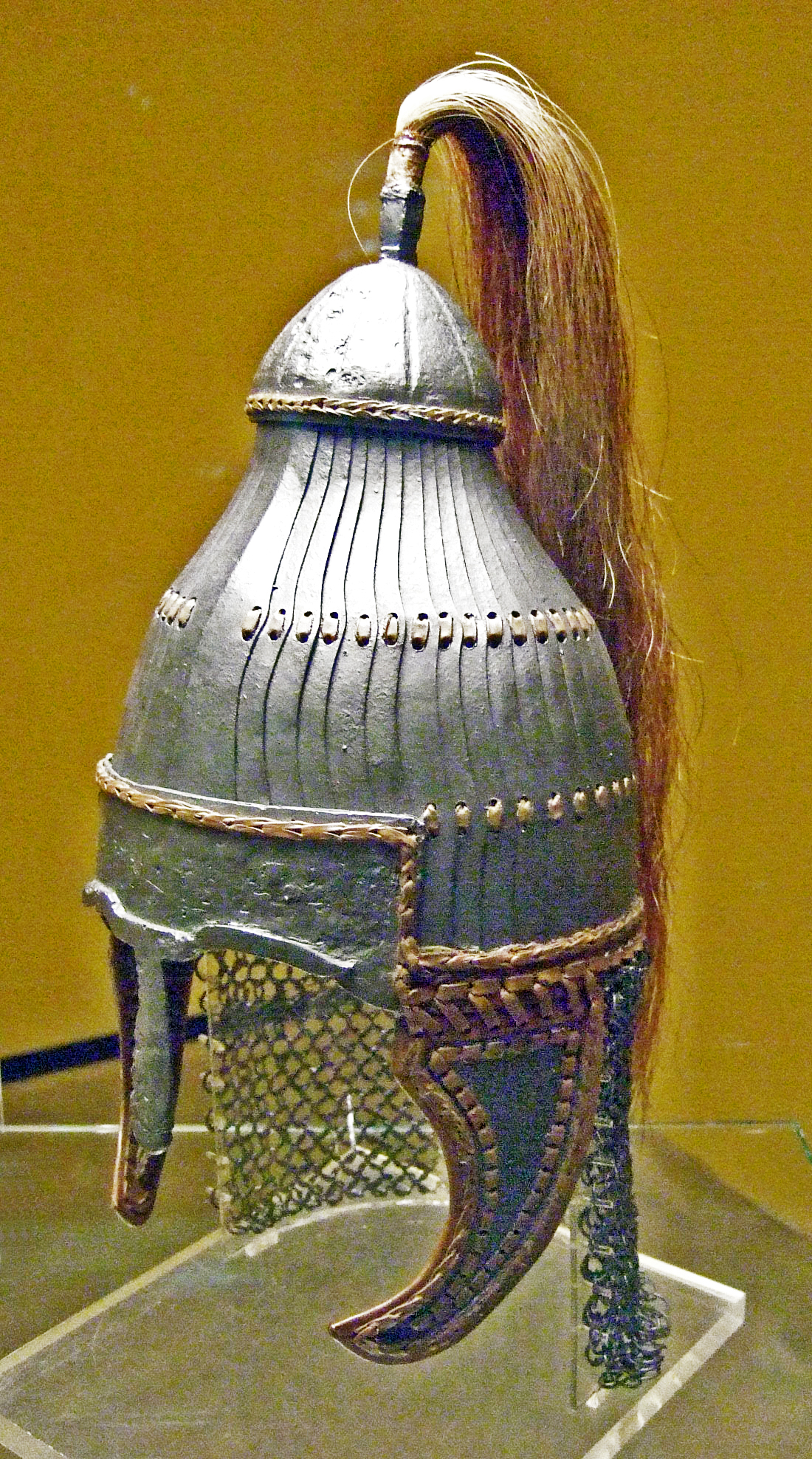 Reconstruction of Lammellen Helmet from Niederstotzingen. Source: Wikipedia