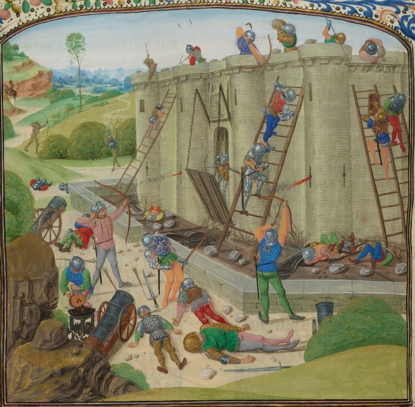 Scene of a siege from the Chronicles of Jehan Froissart
