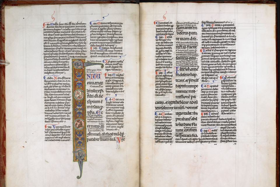 Royal MS 4 D II c 1175-c 1225 Title Gospel of St Mark with the Glossa Ordinaria,