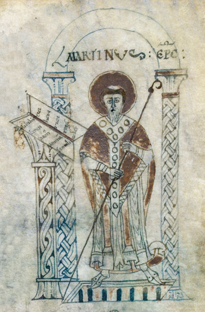 British Library, Additional 11662 Chronicle of Saint-Martin-des-Champs in verse (imperfect) French Manuscript c. 1067 – 1079 fol 5 © British Library