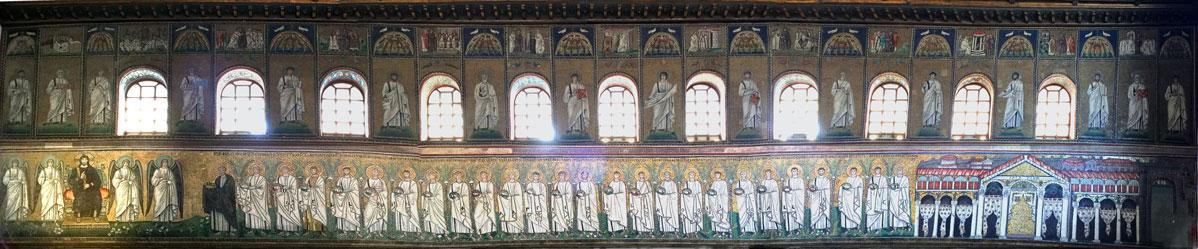 St. Martin leading the procession in Sant Apollinare in Ravenna Source: Wikipedia/Chester M. Wood