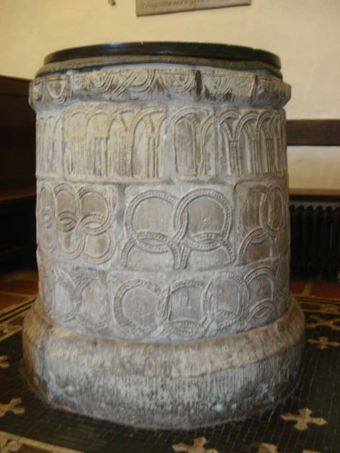 Baptismal Font from the 7th century. Chruch of St. Martin, Canterbury. Source: wikipedia