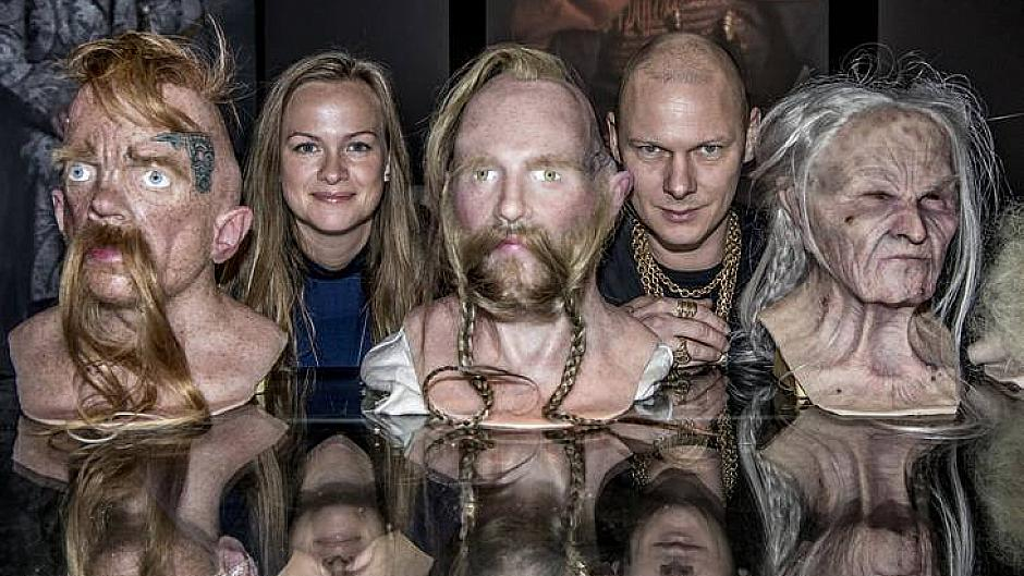 Wax heads at the Viking Echibition at the National Museum in Copenhagen © Jim Lyngvild
