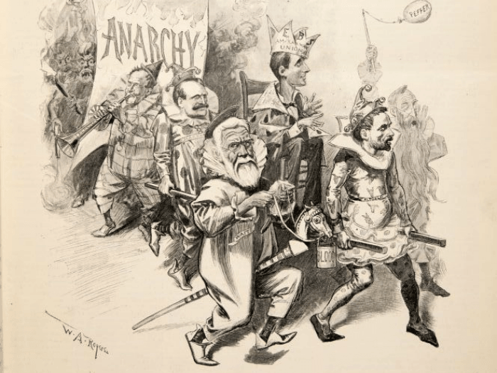political cartoon of the pullman strike